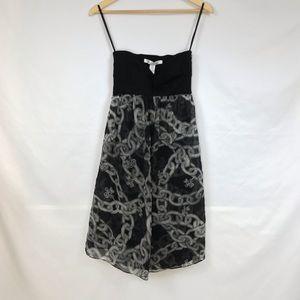 DVF Diamond Chain Strapless Dress Size 4